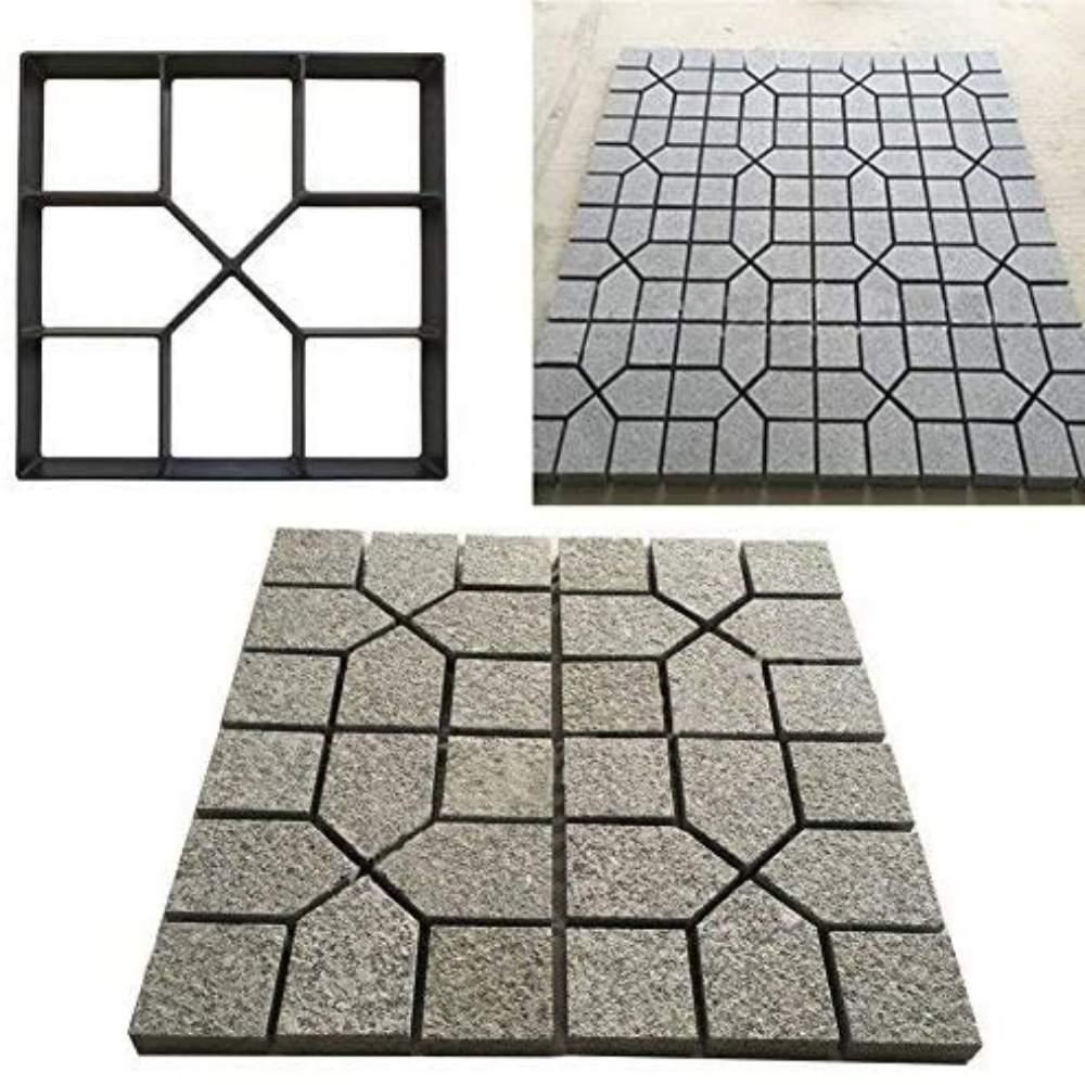 square shape concrete garden path mold