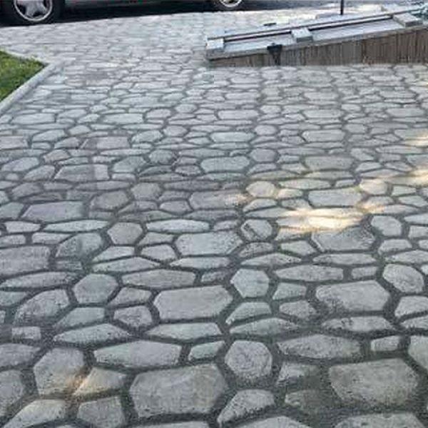diy concrete driveway mold