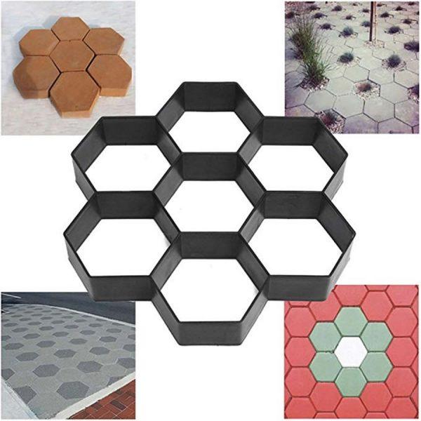 diy hexagon concrete mold
