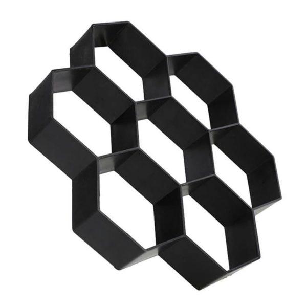 hexagonal shaped concrete garden path mold