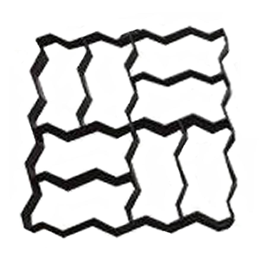 zig zag paver molds